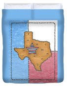 Texas Tried And True Red White And Blue Star Duvet Cover
