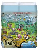 Texas Usa Duvet Cover