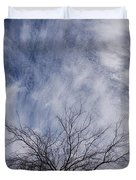 Texas Winter Clouds Duvet Cover