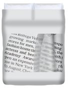Text And Eyeglasses Duvet Cover
