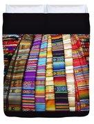 Textile Market Otavalo Ecuador Duvet Cover