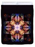 Textured Geometric Mandala Duvet Cover