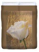 Textured Rose Duvet Cover
