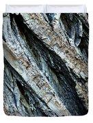 Textured Tree Bark Duvet Cover
