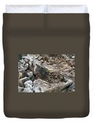 Textured Tree Stump Of Eucalyptus Tree  Duvet Cover