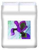 Textured Wild Purple Iris Duvet Cover