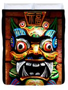 Thai Buddhist Mask Duvet Cover