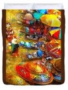 Thai Market Day Duvet Cover