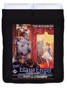 Thai Ridgeback Art Canvas Print - Der Blaue Engel Movie Poster Duvet Cover
