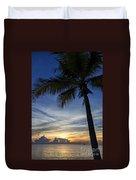 Thailand Sunset Sunrise Duvet Cover