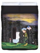 Thank You Again Hand Embroidery Duvet Cover