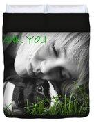 Thank You Bunny-card Duvet Cover