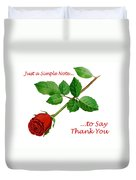 Thank You Card   Duvet Cover