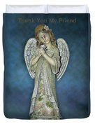 Thank You My Angel Duvet Cover