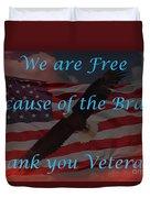 Thank You Veterans Duvet Cover