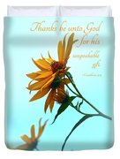 Thankfulness Duvet Cover