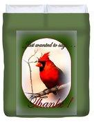 Thanks - Card Duvet Cover