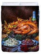 Thanksgiving Dinner Duvet Cover