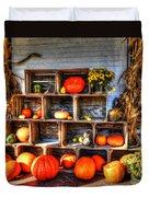 Thanksgiving Pumpkin Display No. 1 Duvet Cover