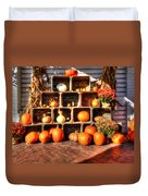 Thanksgiving Pumpkin Display No. 2 Duvet Cover