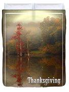 Thanksgiving Reflections Duvet Cover