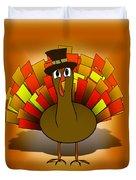 Thanksgiving Turkey Pilgrim Duvet Cover