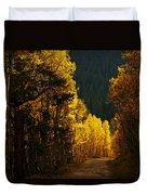 The Golden Road Duvet Cover