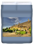Thatched Cottages At Great Tew  Duvet Cover