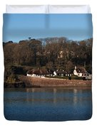 Thatched Cottages In A Town, Dunmore Duvet Cover