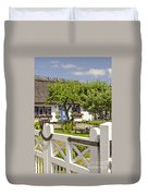 Thatched Roof Cottage Duvet Cover