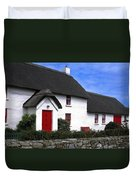 Thatched Roof House Duvet Cover