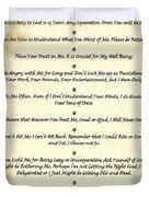 The 10 Commandments  For Pets  Antique Marble Duvet Cover