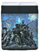 The 107th Infantry Memorial Sculpture Duvet Cover