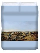 The 10th Regiment Of Dragoons Arriving Duvet Cover