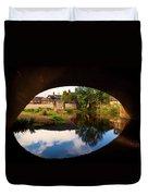 The 1869 Iron Chantry Footbridge Duvet Cover