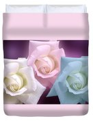 The 3 Graces Duvet Cover by Joan-Violet Stretch