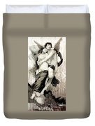 The Abduction Of Psyche By William Bouguereau Duvet Cover