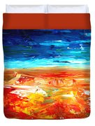 The Abstract Rainbow Beach Series II Duvet Cover