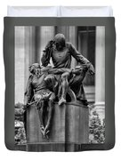 The Actor Statue Philadelphia Duvet Cover