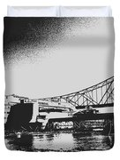 The Admiral And President's Casino In Ink Stamp Duvet Cover