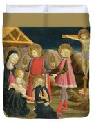 The Adoration Of The Kings And Christ On The Cross Duvet Cover