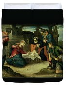 The Adoration Of The Shepherds, 1540s Duvet Cover