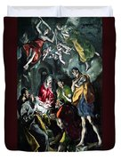 The Adoration Of The Shepherds From The Santo Domingo El Antiguo Altarpiece Duvet Cover