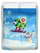 The Aerial Skier - 10 Duvet Cover by Hanne Lore Koehler