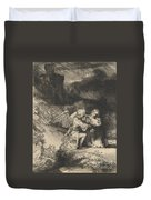 The Agony In The Garden Duvet Cover by Rembrandt
