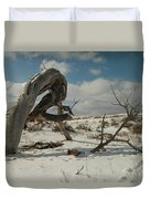The Agony Of Living Or Dying Duvet Cover