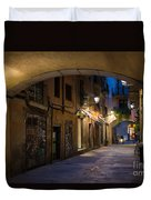 The Alley- In Beautiful Barcelona Duvet Cover