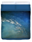 The Alps From Space Duvet Cover by Anonymous