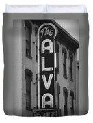 The Alva - Black And White Duvet Cover