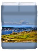 The Amazing Chambers Bay Golf Course - Site Of The 2015 U.s. Open Golf Tournament Duvet Cover